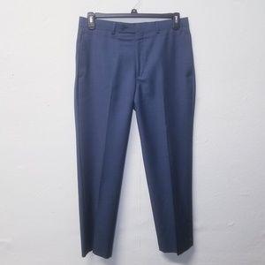 CALVIN KLEIN Slim Wool Blue Pants 32x30